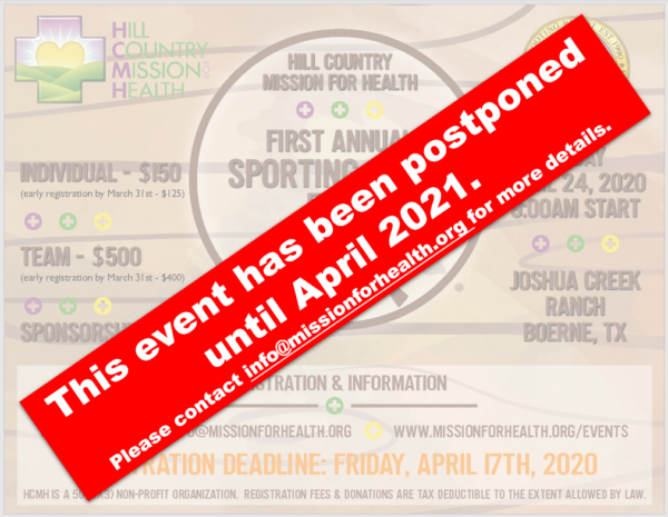 Sporting Clays Postponed